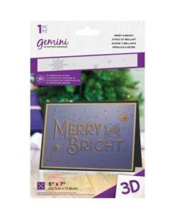 Gemini 3D-Embossing Folder - Merry and Bright