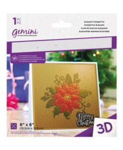 Gemini 3D-Embossing Folder - Elegant Poinsettia