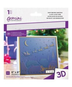 Gemini 3D-Embossing Folder - Night Before Christmas