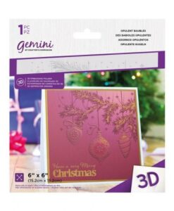 Gemini 3D-Embossing Folder - Opulent Baubles