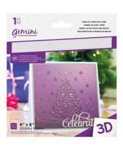 Gemini 3D-Embossing Folder - Ornate Christmas Tree