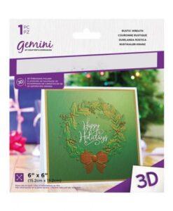 Gemini 3D-Embossing Folder - Rustic Wreath