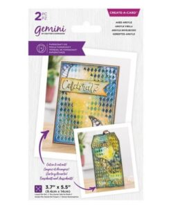 Gemini Create-a-Card - Aged Argyle