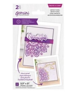 Gemini Create-a-Card - Abstract Floral