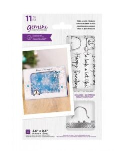 Peek-A-Boo Christmas Stamp & Die - Pinguin