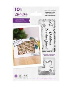 Peek-A-Boo Christmas Stamp & Die - Reindeer