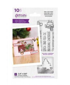 Peek-A-Boo Christmas Stamp & Die - Roosborstje
