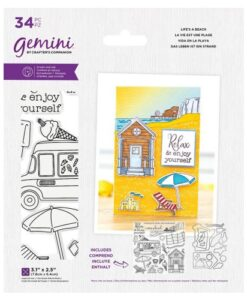 Gemini Staycation Stamp & Die - Life's A Beach