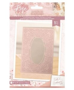 Rose Gold Cut & Emboss Folder - Decorative Rose Frame