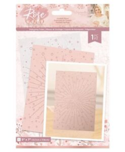 Rose Gold Embossing Folder - Confetti Burst
