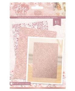 Rose Gold Embossing Folder - Rose Blooms