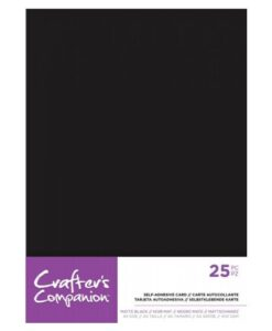 Crafter's Companion - Mat Zwart Zelfklevend Cardstock A5