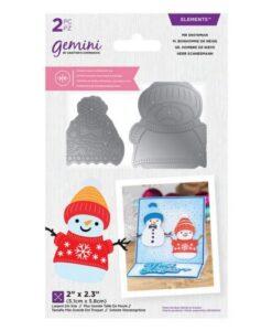 Gemini Dubbelzijdige Snijmal - Mr Snowman