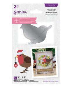 Gemini Dubbelzijdige Snijmal - Christmas Robin