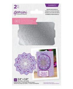 Gemini Dubbelzijdige Snijmal - Snowflake Mandala