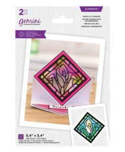Gemini - Single Lily - Glas-in-Lood Snijmal