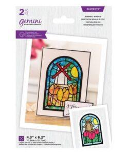 Gemini - Windmill - Glas-in-Lood Snijmal