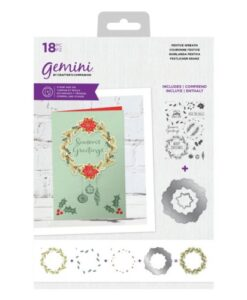 Layered Stamp & Die - Festive Wreath