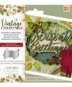 Vintage Christmas Snijmal - Season's Greetings
