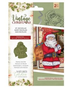 Vintage Christmas Stamp & Die - St. Nicholas