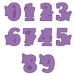 Gemini Expressions Die - Butterfly Alphabet Numbers