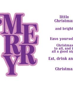 Gemini-Christmas-Word Stamp & Die - Merry
