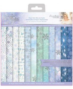 Glittering Snowflakes - Paper Pad 15 x15 cm