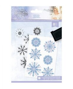 Glittering Snowflakes Clearstamp - Frosted Layers