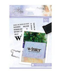Glittering Snowflakes Stamp & Die - Winter Solstice