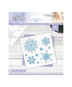 Glittering Snowflakes Stencil - Snow Is Falling