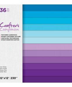 CC-Textured Cardstock - Cool Tones 30 x 30 cm