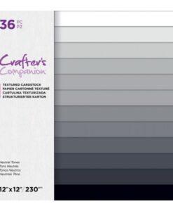 CC-Textured Cardstock - Neutral Tones 30 x 30 cm