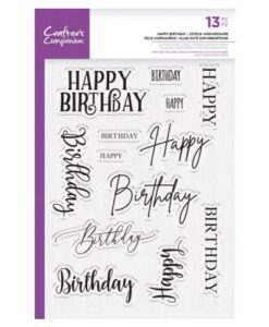 CC – Clearstamp – Happy Birthday