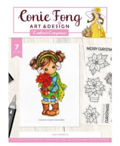 Conie Fong Clearstamp - Holly Poinsettia
