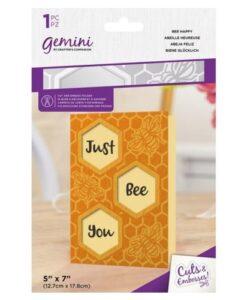 Gemini Cut & Emboss Folder - Bee Happy