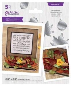 Gemini Elements - Autumn Leaves - Flower Foam Die