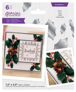 Gemini Elements - Holly - Flower Foam Die