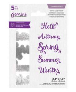 Gemini Expressions Die - Seasonal Sentiments