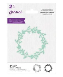 Gemini Stamp & Die - In Full Bloom Wreath