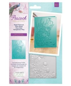 Peacock Collection Regal Peacock - 3D Embossing Folder