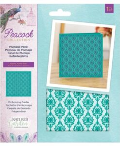 Peacock Collection Plumage Pane - Embossing Folder