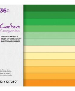 CC-Textured Cardstock - Sunflower 30 x 30 cm