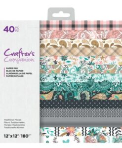 CC- Paper Pad - Traditional Florals 30x30 cm