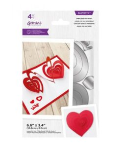 Gemini-Elements Spiral Pop-Out- Heart