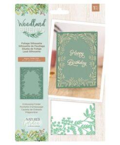 Woodland Friends Embossing Folder - Foliage Silhouette