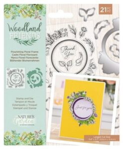 Woodland Friends Stamp & Die - Flourishing Floral Frame