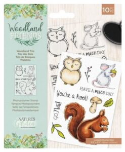 Woodland Friends Clear Stamp - Woodland Trio