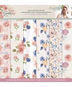 Rose Garden - Vellum Pad 30 x 30 cm