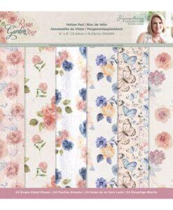 Rose Garden - Vellum Pad 15 x 15 cm
