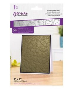 Gemini 3D-Embossing Folder – Lavish Leopard Print